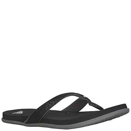 adidas Women's Comfort B Flip Flop Sport Sandal, Core Black,