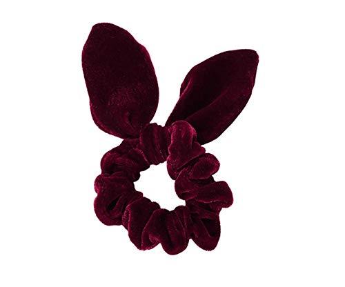 Simnice 25 Pack Hair Scrunchies Rabbit Bunny Ear Bow Bowknot Scrunchie Velvet Scrunchy Bobbles Elastic Hair Ties Bands Ponytail Holder by Simnice (Image #7)