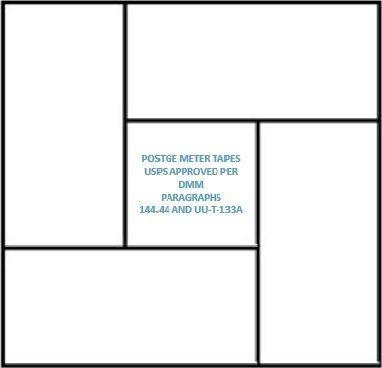 Pinwheel - Cinta métrica de envío ~ Fabricado en EE.UU~ (aprobado por USPS) compatible con Pitney Bowes, Hasler, Neopost y...