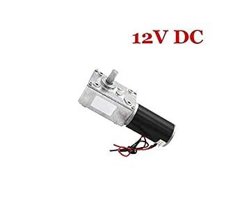 EsportsMJJ 31Zy Dc 12V/24V 80Rpm Turbo Gear Motor Dc Reductor Gusano Engranaje Motor - 12V: Amazon.es: Bricolaje y herramientas