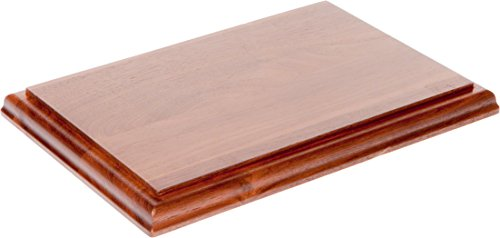 Plymor Brand Solid Walnut Rectangular Wood Display Base with Ogee Edge.75