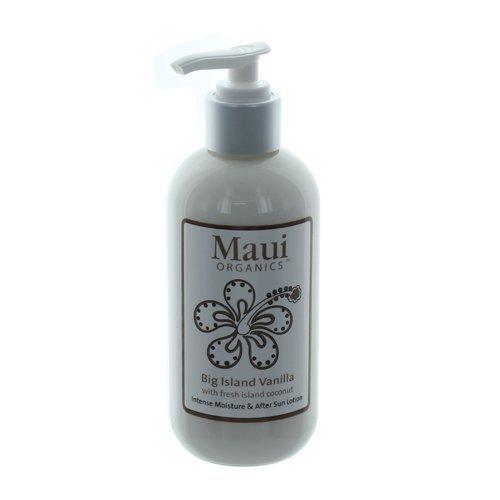 Maui Organics Intense Moisture and After Sun Lotion, Big Island Vanilla, 8.5 Ounce by Maui Organics