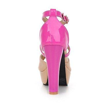 LvYuan Mujer Sandalias Zapatos formales Semicuero Primavera Verano Boda Vestido Fiesta y Noche Zapatos formales Tacón Robusto Amarillo Rojo Azul Yellow