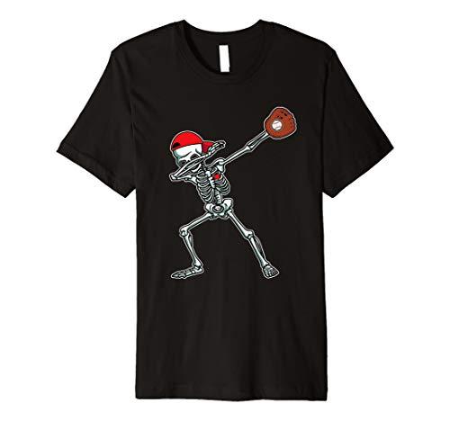 Dabbing Skeleton Baseball T-Shirt Dab Hip Hop Skull Gift