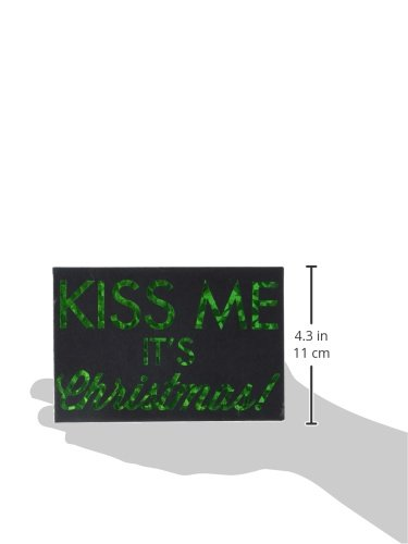Pavilion Gift Company 73733 Hiccup by H2Z Kiss Me Stylish Plaque 6 by 4-Inch