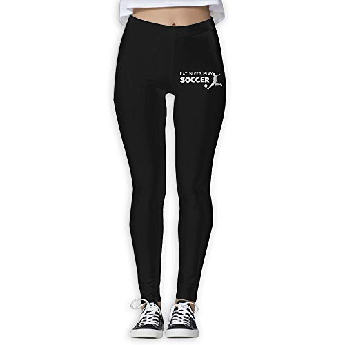NO2XG Eat Sleep Soccer Women's Full-Length Pilates Leggings Wire-Free Pants by NO2XG