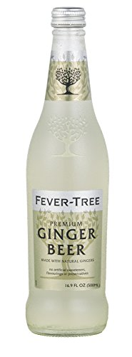 Fever-Tree Premium Ginger Beer, 16.9 Ounce Glass Bottles (Pack of 8) - Organic Ginger Beer