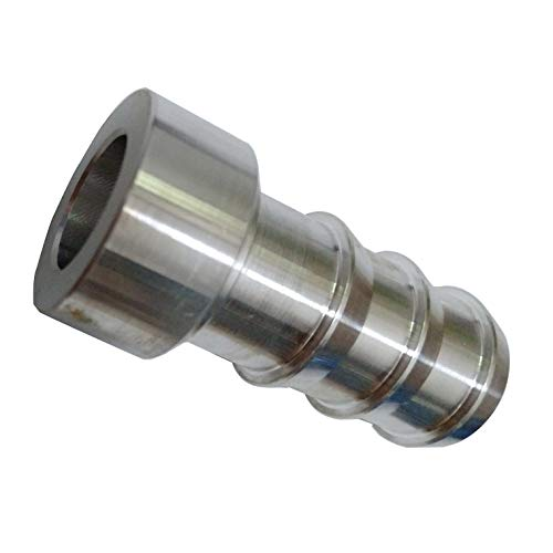 Weld on Bung Hose Barb Aluminum Nipple 3/4 inch Barbed Weldable Pipe Adapter Fittings ()
