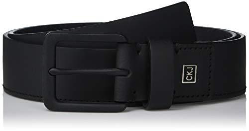 Calvin Klein Men's 35mm Rubberized Leather Belt, black, 34