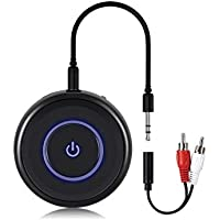 Golvery Bluetooth 4.1 Transmitter and Receiver - 2 in 1 Wireless 3.5mm Aux Bluetooth Audio Adapter - aptX Low Latency, Enjoy HiFi Music - for Home TV, PC, Headphones, Speakers & Car Stereo System