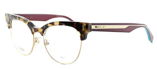 Fendi - COLOR BLOCK FF 0163, Cat Eye, acetate, women, HAVANA CYCLAMEN(VHB), ()