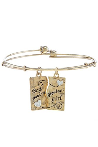 TRENDY FASHION JEWELRY GRANDMOTHER & GRANDDAUGHTER BANGLE BRACELET SET BY FASHION DESTINATION | (Monet Costume Jewelry Bracelet)