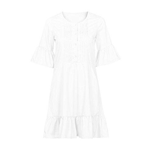 Las del Vestido Vestido Playa De Noche De Mujer Verano Nuevo Vestido Keepwin Blanco del Verano Mini Mujeres De del Partido Boho De La Vestido De gngxBzH