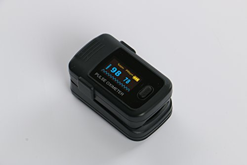 Crystal Angel K-3 New Generation OLED Handhold Portabel Fingertip Digital Pulse Oximeter Oximetery Blood Oxygen Saturation Monitor With Luxury Dual-Color OLED Display in 4 directions and 6 modes, batteries and lanyard
