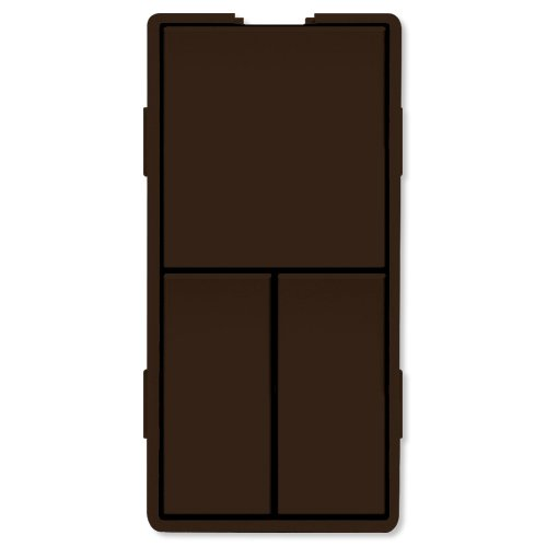 Simply Automated UPB Faceplate, Triple Rockers, Brown (ZS23-BN) (Triple Faceplate)