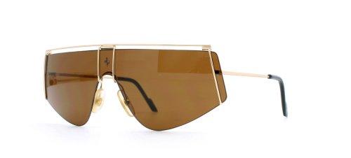 Ferrari 15 524 Gold Authentic Men Vintage - Sunglasses Ferrari