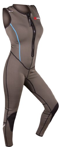 SUPreme Women's Blade Quantum Foam 1.5mm Neoprene Jane Fullsuit, Gray/Black, 12