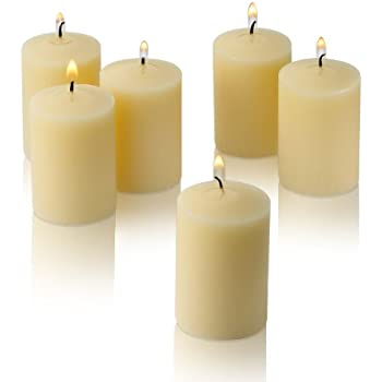 Light In The Dark Ivory Votive Candles - Box of 36 Unscented Bulk Candles - 15 Hour Burn Time - for Weddings, Restaurants, Parties, Spa and Decorations.