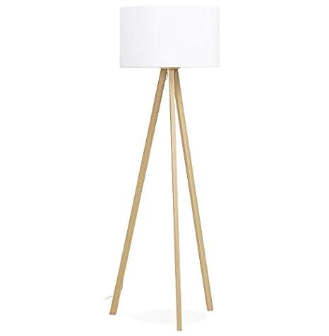 Alterego-trípodeSPRING-Lámpara de pie con pantalla blanca ...