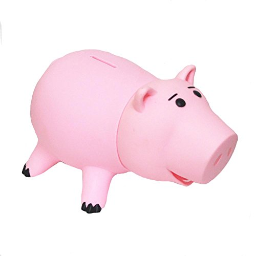 Zaring Cute Pink Pig Money Box Plastic Piggy Bank for Kid's Birthday Gift Without Box