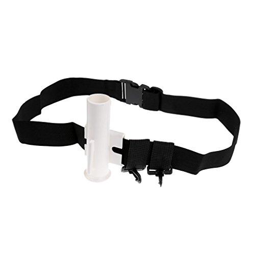 Cheap Jili Online White Fishing Rod Waist Holder Belt Spinning Casting Reel Fishing Pole Stand 60cm