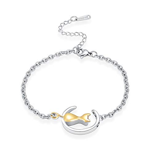 - Minicremation Cremation Jewelry Urn Bracelet for Ashes, Cat Shape Memorial Pendant Bangle Made of 316L Stainless Steel, Ashes Holder Charms Bracelet Multicolor Can be Choose with Free Fill Kit.
