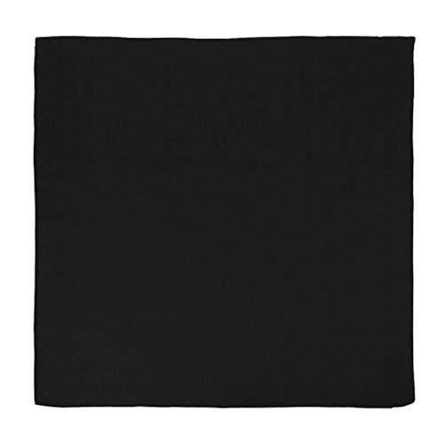 Black Bandana Cotton (Basico 100% Cotton Head Wrap Bandanas 12 Pack 22
