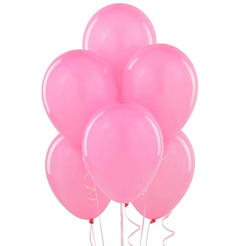 12 Inch Latex Balloons (Premium Helium Quality), Pack of 100, Hot Pink