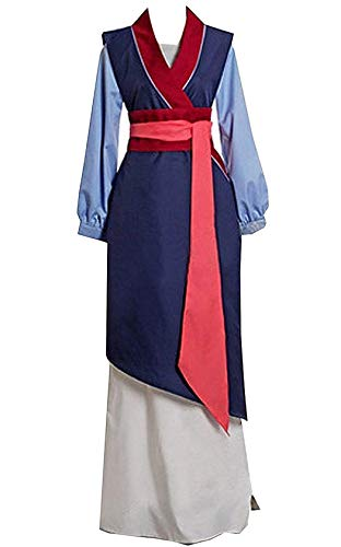Mulan Costume Adults (ZYHCOS Princess Costume Fancy Party Maid Dress for Adult and Child (Womens-L))