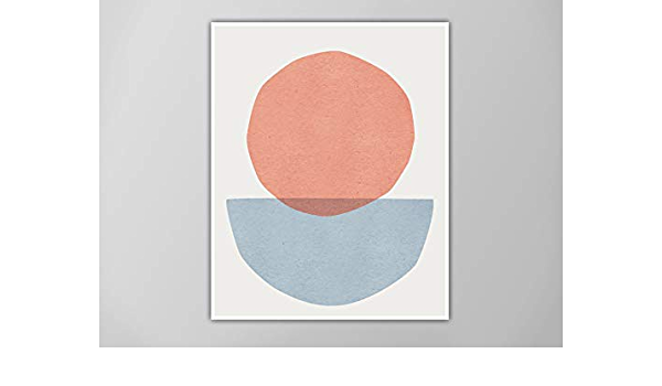 original collage art Circle art minimalist collage abstract circle  minimal collage art abstract art geometric collage abstract art