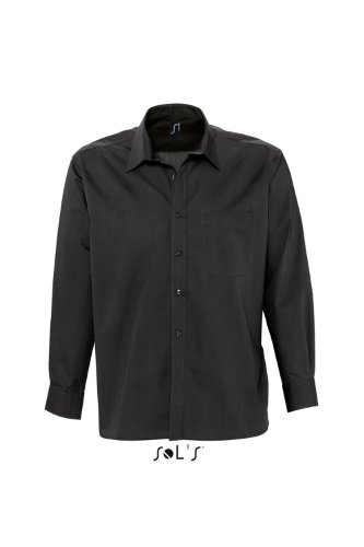 SOL´S Mens Long Sleeved Shirt Bradford, Größe:S, Farbe:Black