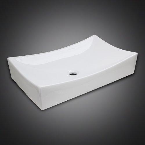 New GotHobby Low Profile Ceramic Bathroom Faucet Vessel Vanity Sink Art  Basin