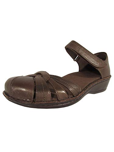 Aravon Womens Clarissa Fisherman Sandal Shoes, Bronze, US 5