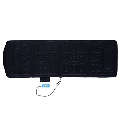 Soozier 10-Motor Heated Vibration Massage Plush Mat - Black Full Body Massage Mat
