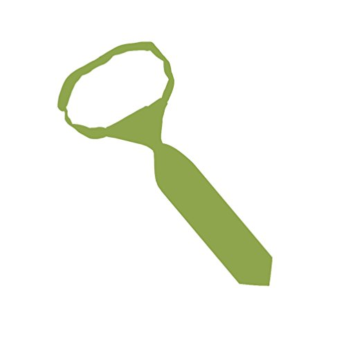 Jacob Alexander Infant's Toddler's 8'' Pretied Ready Made Solid Color Hook and Loop Band Tie - Apple Green by Jacob Alexander (Image #2)