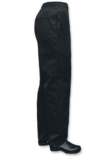 Newchef Fashion Black Ladies Chef Pants M Black by Newchef Fashion