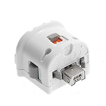 Goldyqin Sensor de Movimiento Adaptador Plus Consola Nintendo Wii Remoto Wiimote Controlador inalámbrico Blanco y Negro