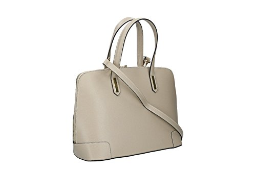 Borsa donna a mano con tracolla PIERRE CARDIN taupe pelle Made in Italy VN222