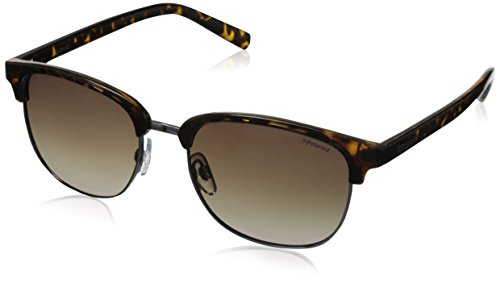 Polaroid Sunglasses Pld1012s Round Sunglasses, Ruthenium/Brown Gradient, 54 mm