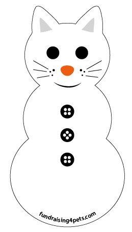 Cat Snowman magnet
