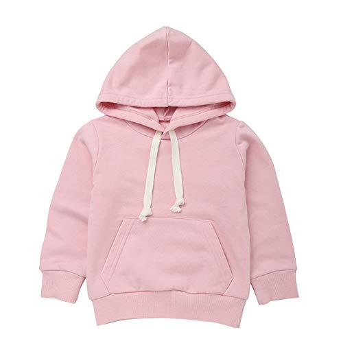 Oldeagle Baby Sweatshirt 1-6 Years Old, Toddler Boys Girls Pullover Hooded Casual Blouse Sweatshirt Tops Outfits (3T, Pink)