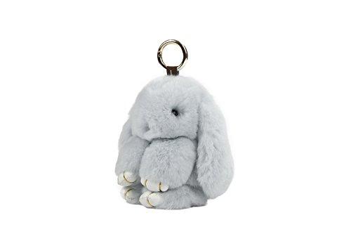 USATDD Bunny Fur Rex Rabbit Fluffy Plush Doll Pendant Keychain Car Handbag Keyring Key Chain Womens Bag Charms 7