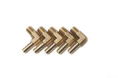 LTWHOME 90 Deg Elbow Brass Barb Fitting 1/8