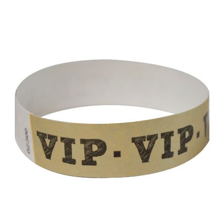 100 Pack Gold VIP Tyvek Wristbands Vip Ticket