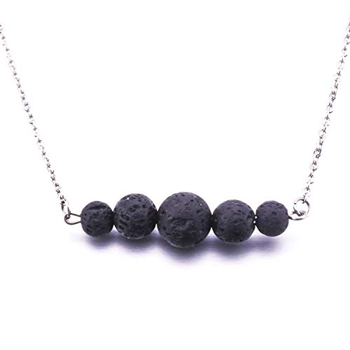 New Lava Stone Stainless Steel Necklace Essential Oil Diffuser Volcanic Rock Necklace for Women Jewelry 5
