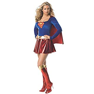 Secret Wishes womens Supergirl Costume, Red/Blue, X-Small US