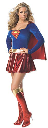(Secret Wishes Adult Supergirl Costume, Red/Blue)