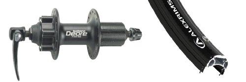 Sta Tru Black Shimano Deore 6-Bolt 8-9-10 Speed Cassette Disc Hub Rear Wheel ()