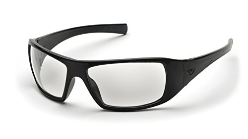 Pyramex Goliath Safety Eyewear, Clear Lens With Black - Z87.1 Ansi Sunglasses