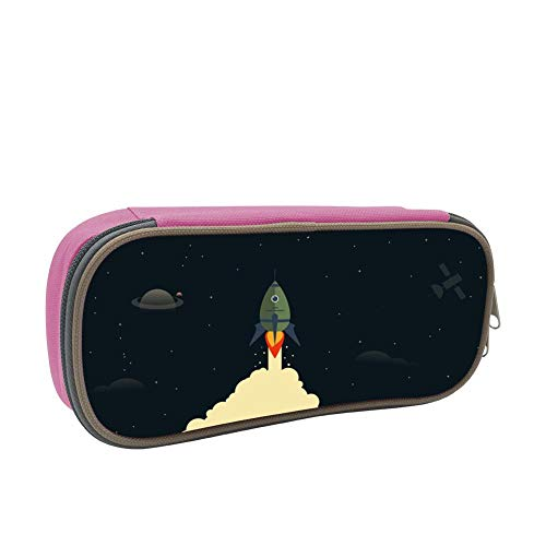 Rocket Lift Large Capacity Multi-Layer Pencil Case Back To School Choice Pink by dreambest